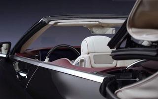 Interiorul lui Mercedes Clasa S Cabrio facelift, dezvăluit într-un teaser video