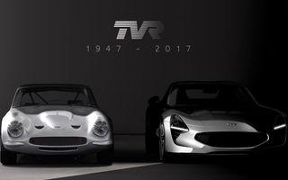 Marca britanică TVR se relansează cu un nou model sport global: primul teaser arată promițător
