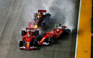 """Verstappen îl acuză pe Vettel de producerea accidentului din Singapore: """"Nu a fost prea inteligent"""""""