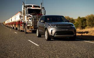 Desfășurare de forțe: Land Rover Discovery a tractat un autotren de 110 tone