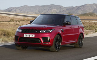 Range Rover Sport facelift: primul plug-in hybrid din istoria Land Rover are 400 CP, iar versiunea de top SVR ajunge la 575 CP