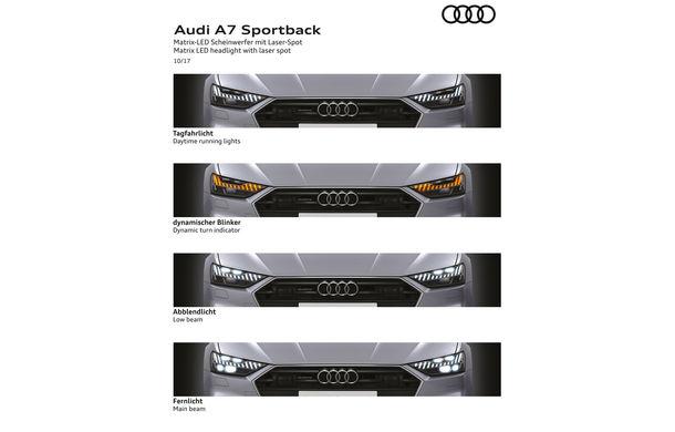 Audi A7 Sportback ajunge la a doua generație: exterior conservator, butoanele fizice de la interior dispar, iar tehnologia e la ea acasă - Poza 31
