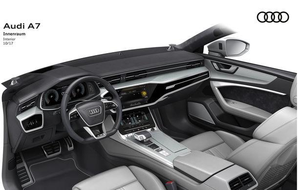 Audi A7 Sportback ajunge la a doua generație: exterior conservator, butoanele fizice de la interior dispar, iar tehnologia e la ea acasă - Poza 36