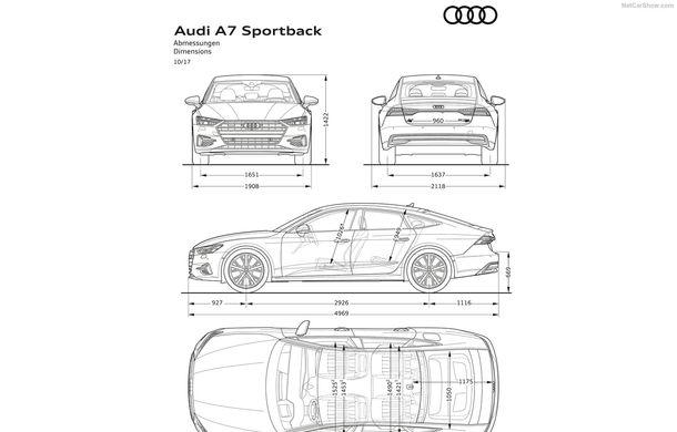 Audi A7 Sportback ajunge la a doua generație: exterior conservator, butoanele fizice de la interior dispar, iar tehnologia e la ea acasă - Poza 42