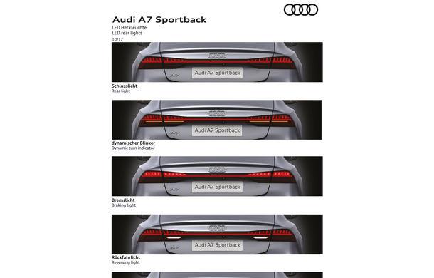 Audi A7 Sportback ajunge la a doua generație: exterior conservator, butoanele fizice de la interior dispar, iar tehnologia e la ea acasă - Poza 32