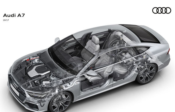 Audi A7 Sportback ajunge la a doua generație: exterior conservator, butoanele fizice de la interior dispar, iar tehnologia e la ea acasă - Poza 34