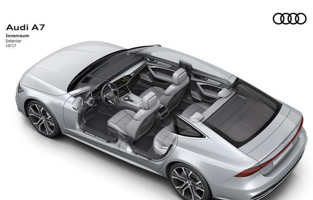 Audi A7 Sportback ajunge la a doua generație: exterior conservator, butoanele fizice de la interior dispar, iar tehnologia e la ea acasă - Poza 35