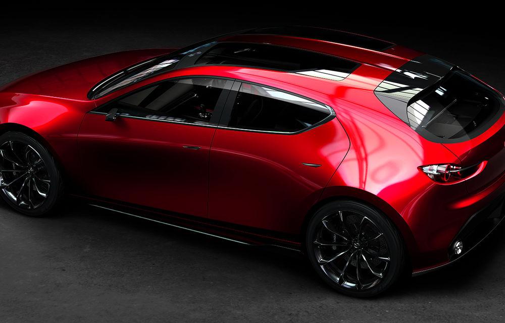 Mazda Kai Concept anunță viitoarea generație Mazda 3: design evoluat și motor pe benzină Skyactiv-X cu aprindere prin compresie - Poza 4