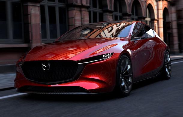 Mazda Kai Concept anunță viitoarea generație Mazda 3: design evoluat și motor pe benzină Skyactiv-X cu aprindere prin compresie - Poza 2