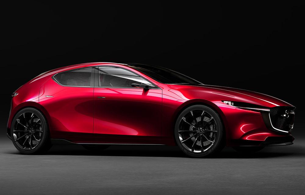 Mazda Kai Concept anunță viitoarea generație Mazda 3: design evoluat și motor pe benzină Skyactiv-X cu aprindere prin compresie - Poza 1