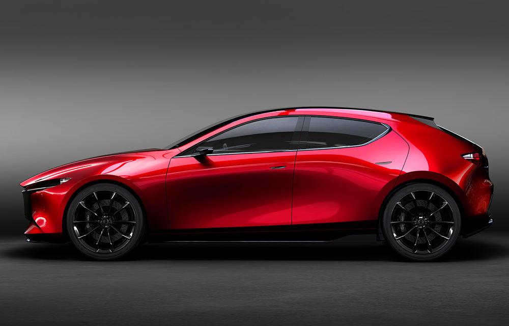 Mazda Kai Concept anunță viitoarea generație Mazda 3: design evoluat și motor pe benzină Skyactiv-X cu aprindere prin compresie - Poza 7