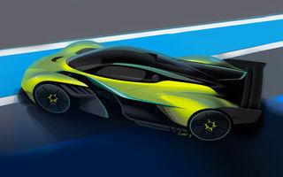 Primele schițe oficiale cu viitorul Valkyrie AMR Pro, versiunea de circuit a celui mai impresionant model Aston Martin