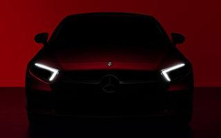 Teaser video pentru noua generație Mercedes CLS: partea frontală, dezvăluită înainte de lansarea din 29 noiembrie