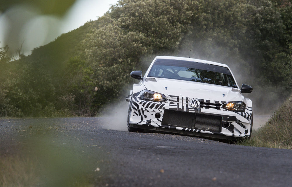 Pe asfalt, dar și pe macadam: Volkswagen a realizat primele teste cu viitorul Polo GTI R5 - Poza 1