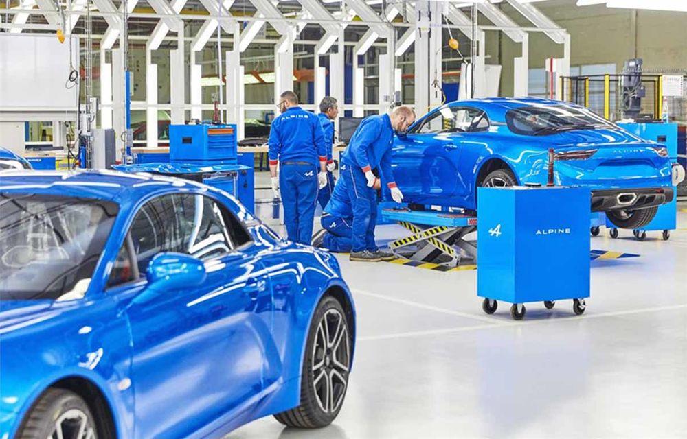 Alpine A110 a intrat pe linia de producție: sportiva de 252 CP este asamblată în cadrul uzinei din Dieppe - Poza 7