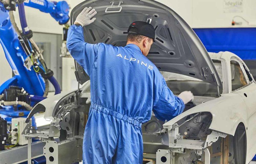 Alpine A110 a intrat pe linia de producție: sportiva de 252 CP este asamblată în cadrul uzinei din Dieppe - Poza 12