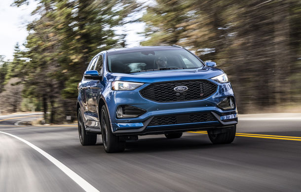 Ford Edge facelift a fost prezentat în SUA: schimbări la nivel exterior și, pentru prima dată, o versiune de performanță ST - Poza 1