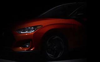 Încă un teaser pentru Hyundai Veloster: partea frontală și spatele, dezvăluite într-un clip video