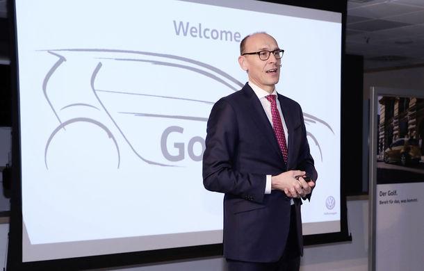 Producția lui Volkswagen Golf 8 începe în iunie 2019: prima schiță cu noua generație - Poza 2