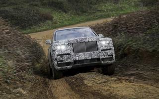 SUV-ul Rolls-Royce se apropie de lansare: britanicii au confirmat numele Cullinan