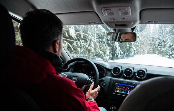 Cu noul Duster în creierii munților: blestemul navigației, pierduți prin zăpadă și căldura de la Casa Răzeșilor - Poza 53