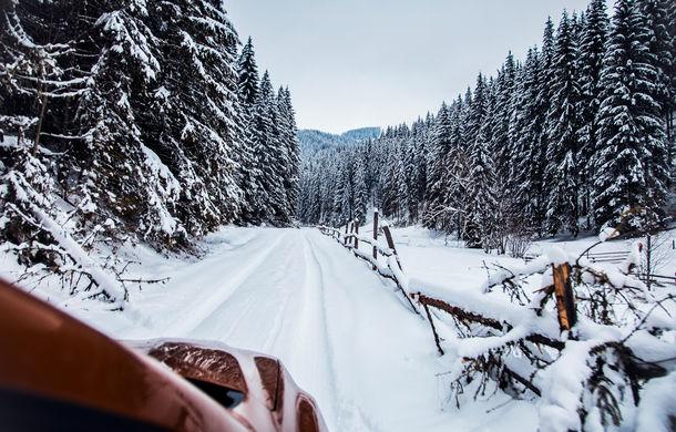 Cu noul Duster în creierii munților: blestemul navigației, pierduți prin zăpadă și căldura de la Casa Răzeșilor - Poza 9