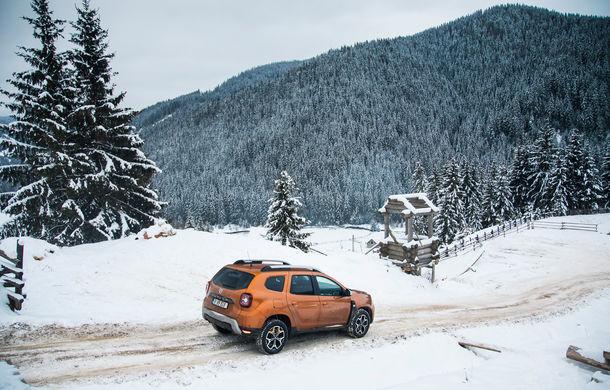 Cu noul Duster în creierii munților: blestemul navigației, pierduți prin zăpadă și căldura de la Casa Răzeșilor - Poza 22