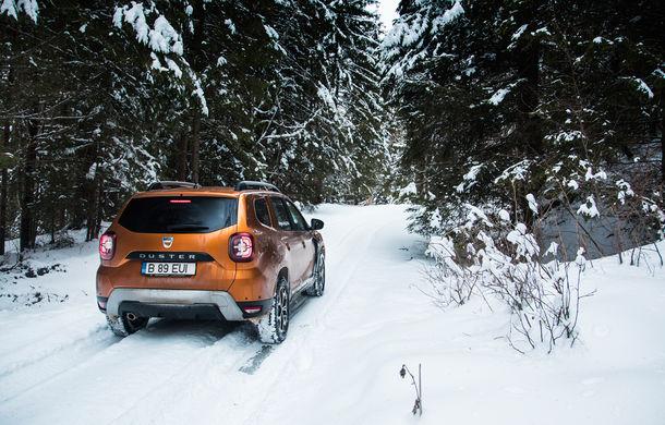 Cu noul Duster în creierii munților: blestemul navigației, pierduți prin zăpadă și căldura de la Casa Răzeșilor - Poza 55