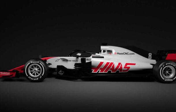 Haas, prima echipă care prezintă noul monopost de Formula 1 pentru 2018: dispozitivul de protecție Halo, principala noutate - Poza 2