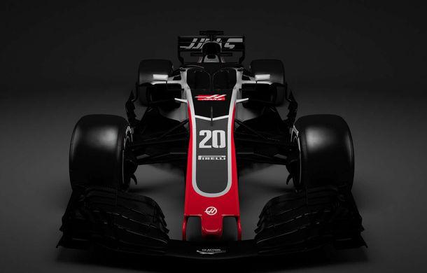Haas, prima echipă care prezintă noul monopost de Formula 1 pentru 2018: dispozitivul de protecție Halo, principala noutate - Poza 3