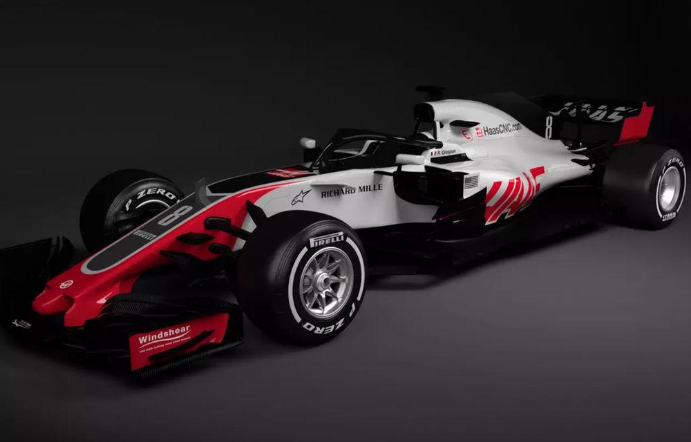 Haas, prima echipă care prezintă noul monopost de Formula 1 pentru 2018: dispozitivul de protecție Halo, principala noutate - Poza 1