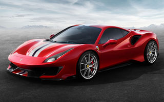 Ferrari 488 Pista: sportiva cu cel mai puternic motor V8 din istoria Ferrari are 720 CP și atinge 0-100 km/h în 2.8 secunde