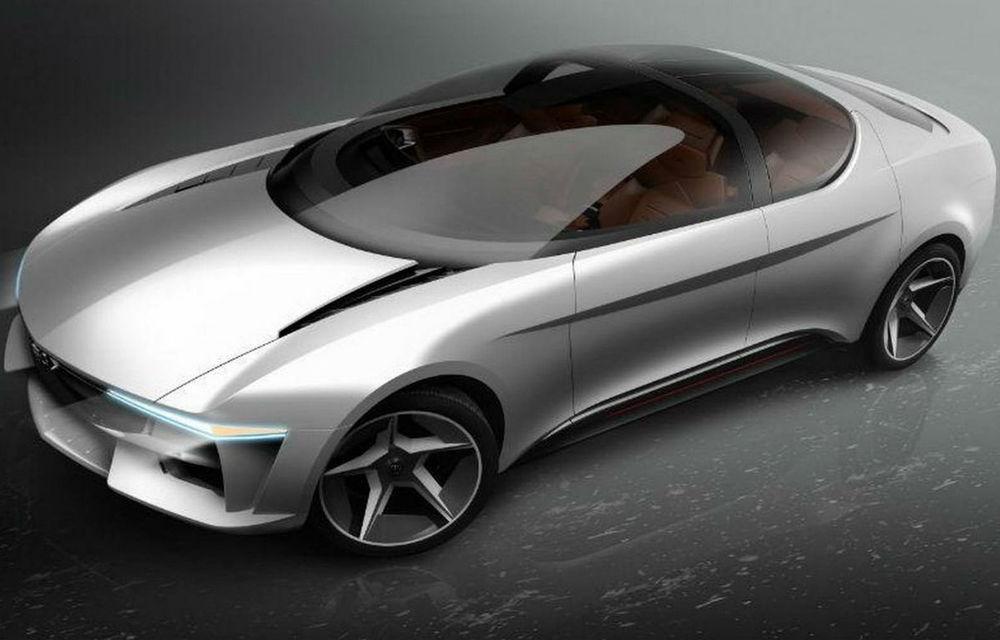 Noua creație a lui Giugiaro: conceptul Sybilla este un sedan electric ce va fi prezentat la Geneva - Poza 1