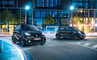 Modelele electrice din gama Smart intră în marea familie a sub-brandului EQ: au fost lansate edițiile speciale EQ Fortwo și EQ Forfour NightSky