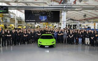 Sărbătoare în Italia: Lamborghini Huracan a ajuns la borna 10.000