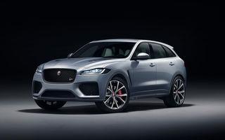 Jaguar F-Pace SVR: SUV-ul de performanță are un V8 de 5.0 litri cu 550 de cai putere