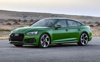 Audi RS5 Sportback: RS5 primește pentru prima oară versiune cu patru uși și păstrează motorul de 450 CP de pe RS5 Coupe