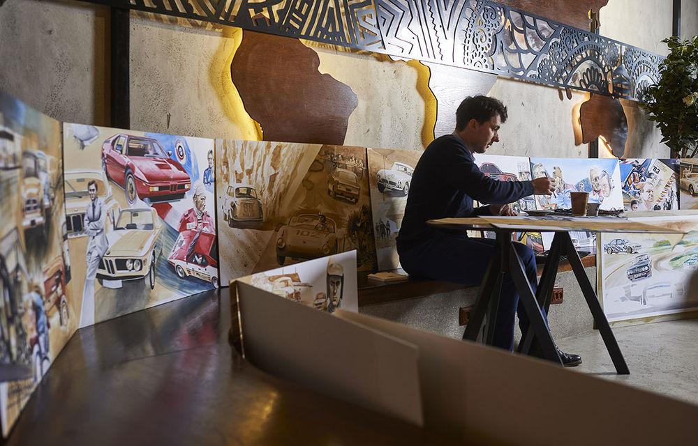 O viață în 15 panouri: Jochen Neerpasch, legenda motorsportului BMW, a fost prezent în România la dezvelirea unei picturi dedicate carierei sale - Poza 2