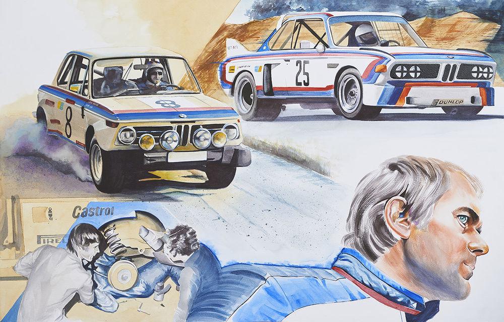 O viață în 15 panouri: Jochen Neerpasch, legenda motorsportului BMW, a fost prezent în România la dezvelirea unei picturi dedicate carierei sale - Poza 12