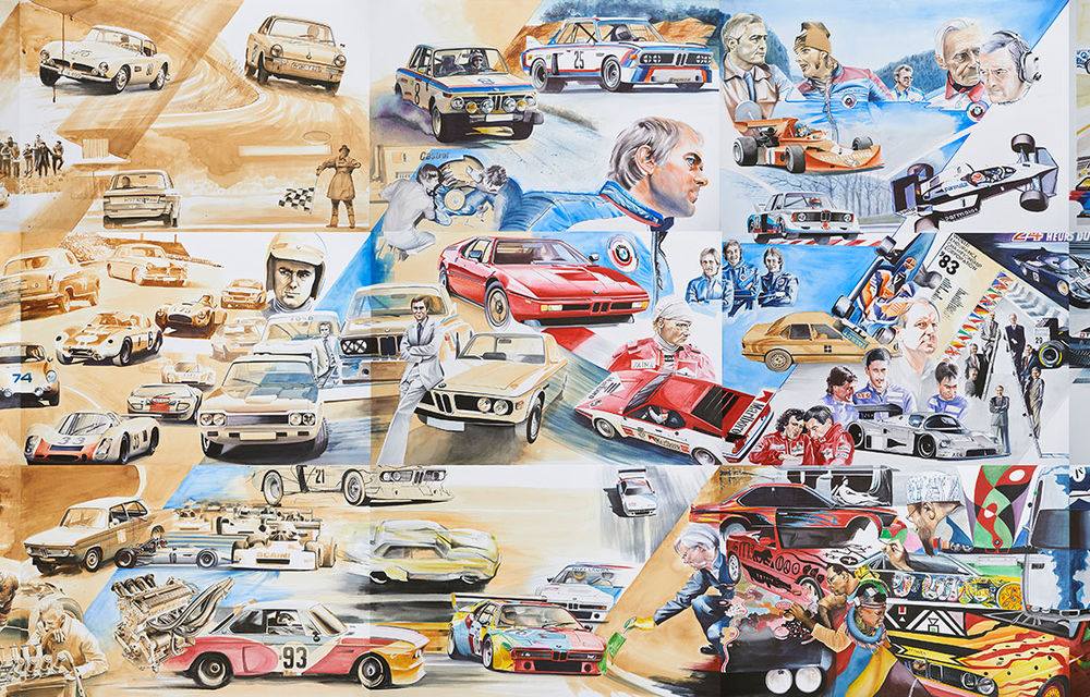 O viață în 15 panouri: Jochen Neerpasch, legenda motorsportului BMW, a fost prezent în România la dezvelirea unei picturi dedicate carierei sale - Poza 15