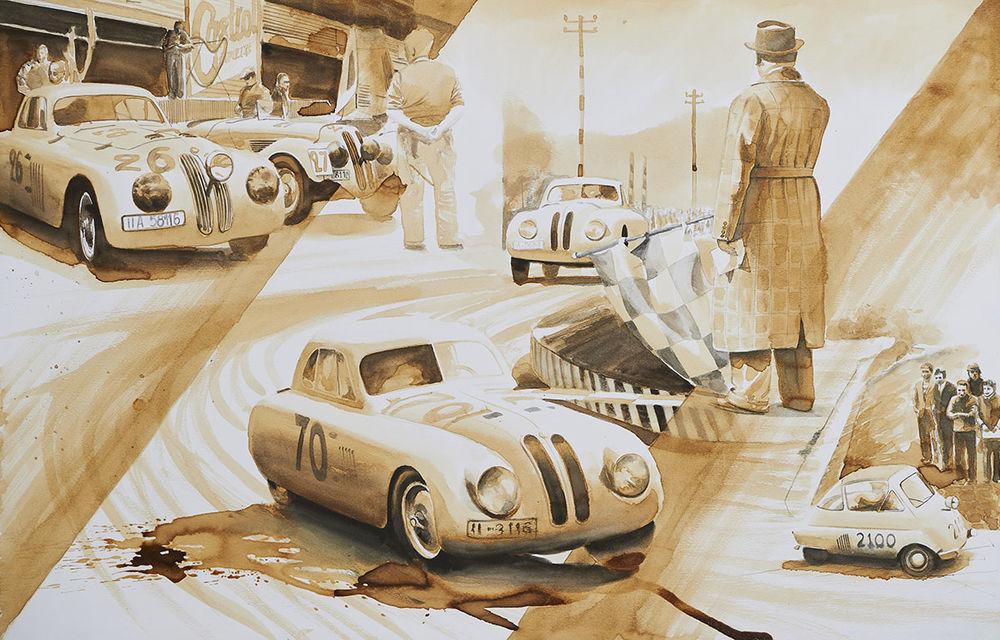O viață în 15 panouri: Jochen Neerpasch, legenda motorsportului BMW, a fost prezent în România la dezvelirea unei picturi dedicate carierei sale - Poza 11