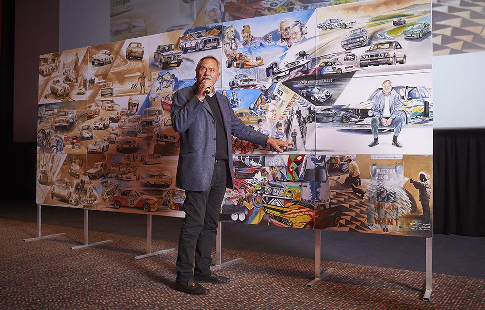 O viață în 15 panouri: Jochen Neerpasch, legenda motorsportului BMW, a fost prezent în România la dezvelirea unei picturi dedicate carierei sale - Poza 5