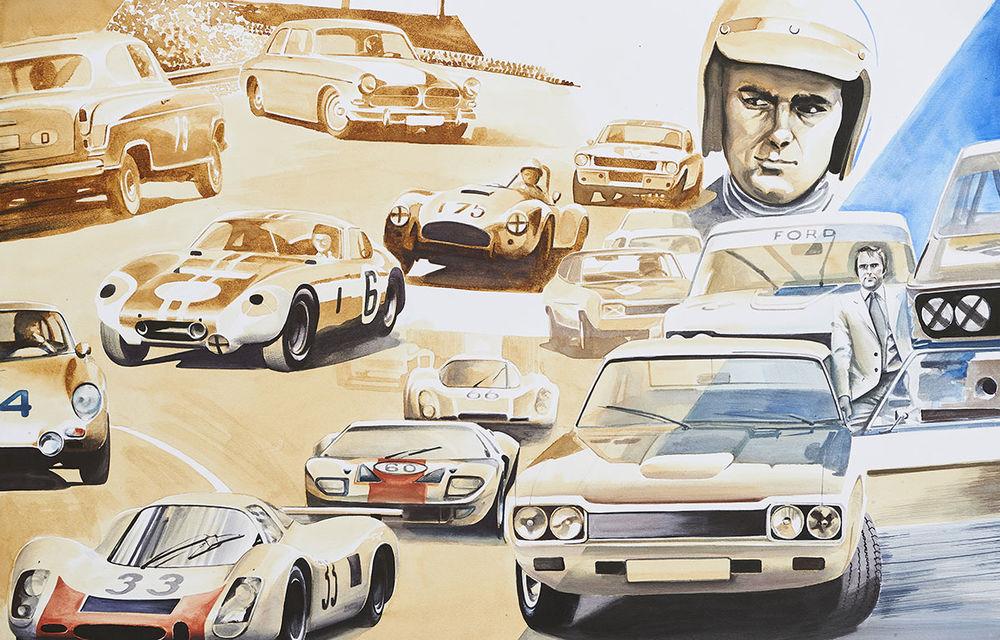 O viață în 15 panouri: Jochen Neerpasch, legenda motorsportului BMW, a fost prezent în România la dezvelirea unei picturi dedicate carierei sale - Poza 13