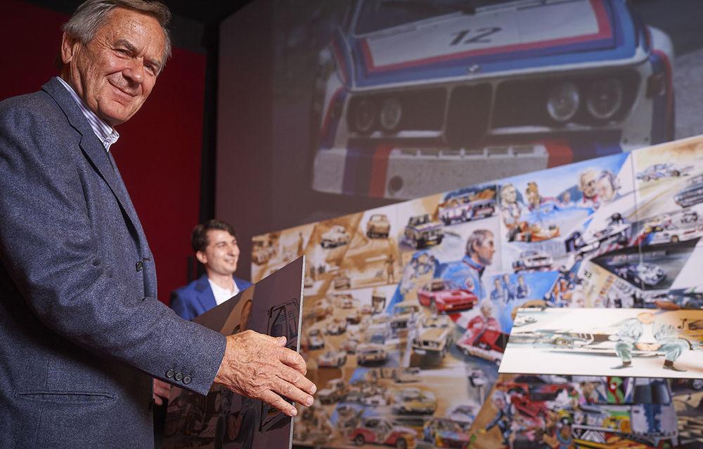 O viață în 15 panouri: Jochen Neerpasch, legenda motorsportului BMW, a fost prezent în România la dezvelirea unei picturi dedicate carierei sale - Poza 6