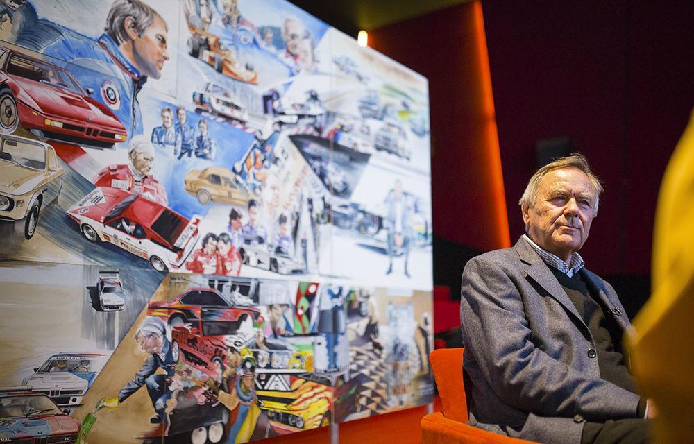 O viață în 15 panouri: Jochen Neerpasch, legenda motorsportului BMW, a fost prezent în România la dezvelirea unei picturi dedicate carierei sale - Poza 1