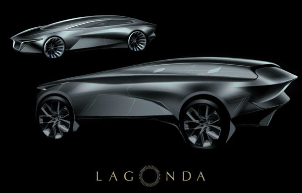Primul model 100% electric de la Aston Martin va fi un SUV de lux: schiță oficială cu modelul Lagonda programat în 2021 - Poza 1