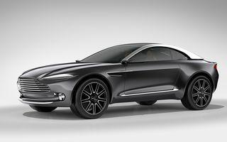 Primul SUV Aston Martin va avea versiune hybrid plug-in: modelul ar urma să beneficieze de un V8 de 4.0 litri și un motor electric, cu un total de 710 CP