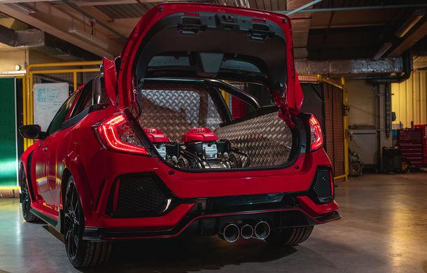 Project P: un Honda Civic Type R a fost transformat într-un pick-up care poate accelera de la 0 la 100 km/h în sub 6 secunde - Poza 6