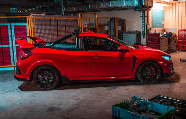Project P: un Honda Civic Type R a fost transformat într-un pick-up care poate accelera de la 0 la 100 km/h în sub 6 secunde - Poza 1