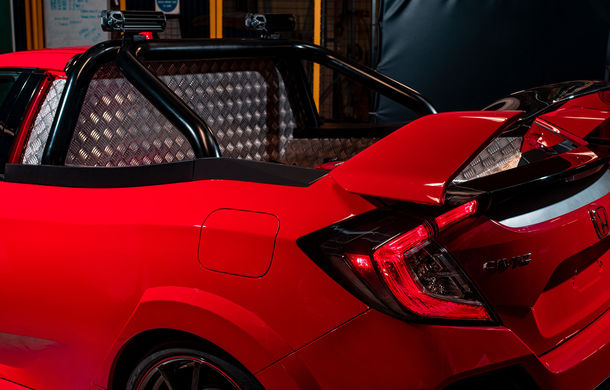 Project P: un Honda Civic Type R a fost transformat într-un pick-up care poate accelera de la 0 la 100 km/h în sub 6 secunde - Poza 5